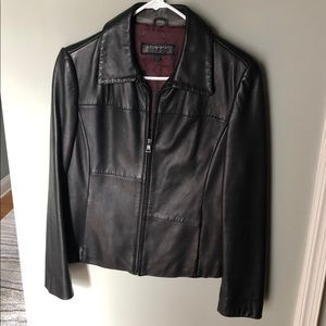 🍁Guess Leather Jacket 🍁